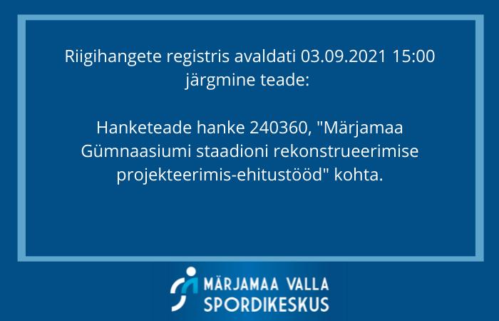 Märjamaa staadion Märjamaa Valla Spordikeskus